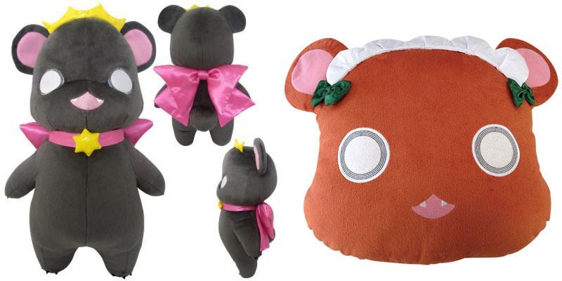 絶賛放送中のテレビアニメ 『ユリ熊嵐』 の「銀子」「るる」ぬいぐるみ&クッションがリリース決定
