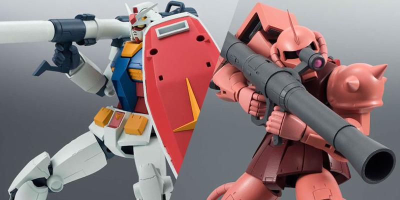 ROBOT魂 〈SIDE MS〉 『機動戦士ガンダム』 RX-78-2 ガンダム/MS-06S シャア専用ザク ver. A.N.I.M.E. [バンダイ]