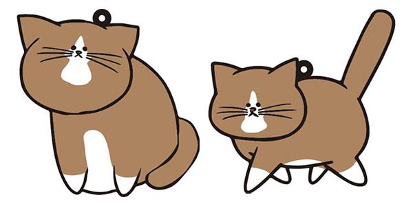 『鴻池剛と猫のぽんた ニャアアアン!』 ラバーストラップ [ベルファイン]