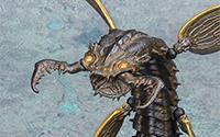 【レビュー】 KT Project KT-011 タケヤ式自在置物 蛇螻蛄(ヘビケラ) 鉄錆地調[海洋堂]