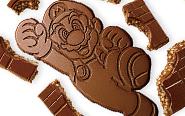 """【トピックス】""""パキパキ""""割ってマリオやヨッシーをゲット!『スーパーマリオ』の型抜き板チョコ登場!"""