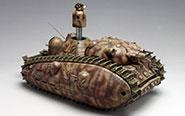 【トピックス】「宮崎駿の雑想ノート」に登場した多砲塔戦車「悪役1号」のプラモデルが登場!
