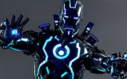 【フォトレビュー】【限定販売】ムービー・マスターピース DIECAST 『アイアンマン2』 1/6 アイアンマン・マーク4 ネオンテック版[ホットトイズ]