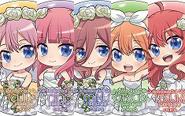 【トピックス】TVアニメ『五等分の花嫁』より、五つ子のステッカーセットが登場!