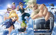 【トピックス】TVアニメ『Dr.STONE』と伊豆箱根鉄道のコラボが実施中!