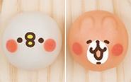 """【トピックス】カナヘイの小動物""""ピスケ&うさぎが""""モチモチの和菓子になって「食べマスモッチ」に初登場!"""