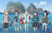【トピックス】TVアニメ『ゆるキャン△ SEASON2』より、青空と夕焼け、2つの表情があるメインビジュアルが公開!