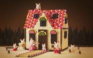 【トピックス】明治×シルバニアファミリー初コラボ!「赤い屋根のお家」をチョコで徹底再現&レシピ公開!