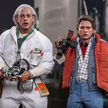 映画『バック・トゥ・ザ・フューチャー』より、マーティ・マクフライ&アインシュタイン、エメット・ブラウン博士が、ハイエンドな1/6スケールのフィギュアで立体化!