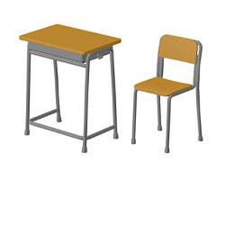 ドールと楽しむプラキット「あぞプラ」シリーズ第一弾として、1/6スケールの「学校の机と椅子」がセットになって登場!