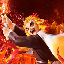 アニメ『鬼滅の刃』より、炎柱・煉獄杏寿郎が鬼と対峙している姿をイメージした、躍動感溢れる姿で立体化!あみあみ限定購入特典付きもラインナップ!