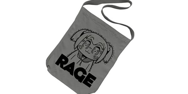 【新商品情報】『ポプテピピック』 RAGE ショルダートート/ミディアムグレー [コスパ]